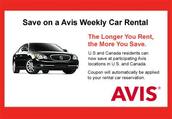 Avis Coupons Save On An Avis Car Rental